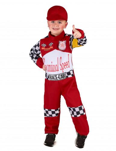 Formel 1 Rennfahrer Kostüm für Kinder schwarz-weiss-rot-1