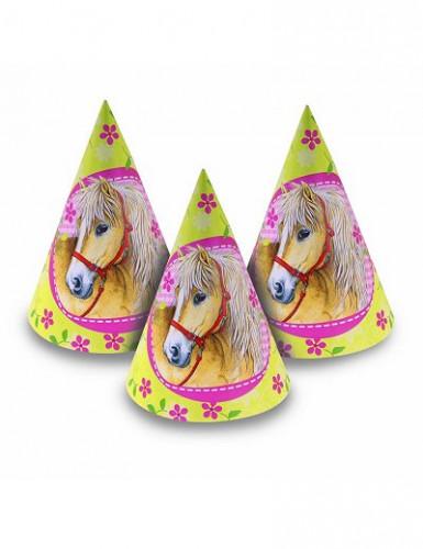 6 Party Hüte Pferde für Kinder