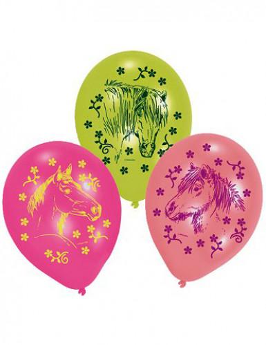 6 Luftballons Pferde