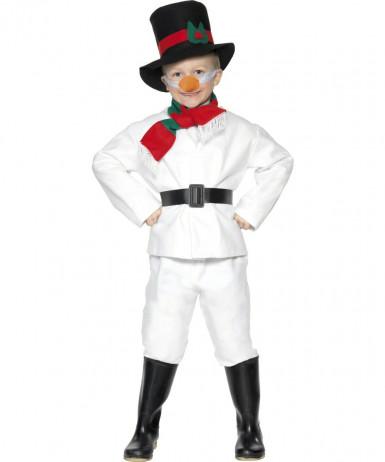 Schneemann-Kostüm Weihnachten für Kinder