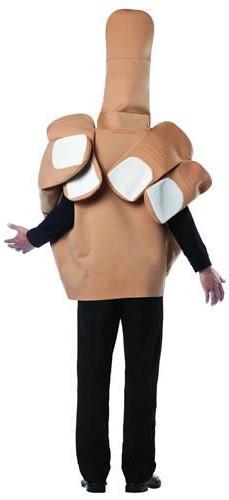 Stinkefinger-Kostüm für Erwachsene hautfarben-1