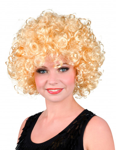 Perücke blond mit Locken für Damen