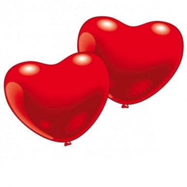 Luftballons - herzförmig
