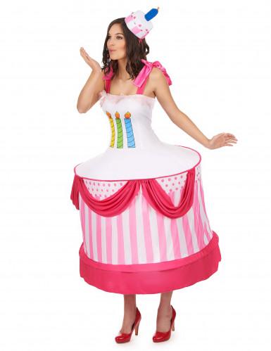 Geburtstagskuchen-Kostüm für Damen-1