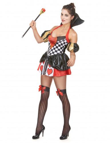 Herzkönigin-Kostüm für Damen-1