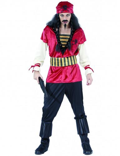 Piraten-Kostüm für Herren mit Bandana bunt