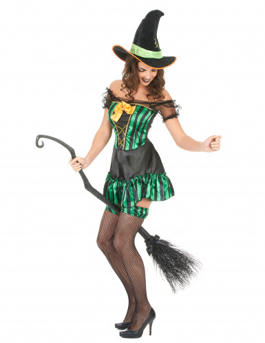 Hexen-Kostüm für Damen Halloween-1