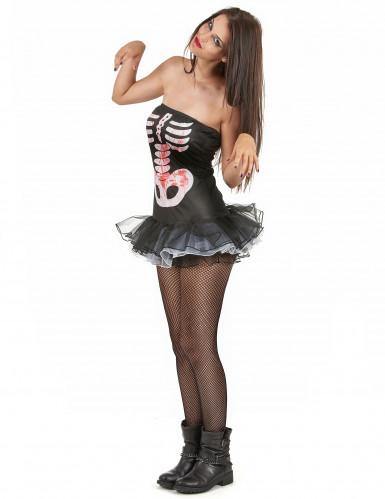 Sexy Skelett-Kostüm Halloween für Damen-1
