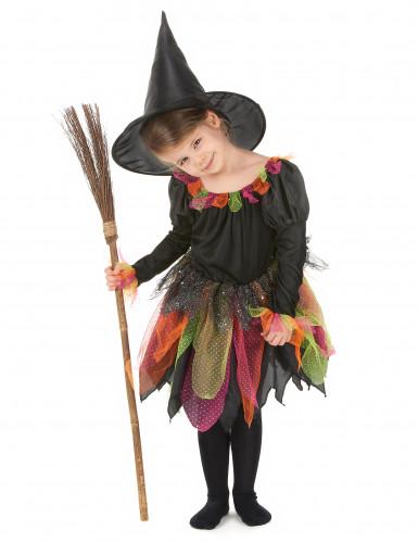 Halloween Hexenkostüm für Mädchen bunt