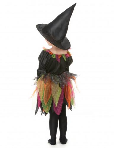 Halloween Hexenkostüm für Mädchen bunt-2