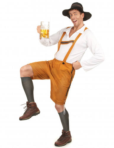 Bayrisches Kostüm Lederhose für Herren-1