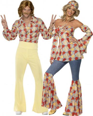 Hippie - Paarkostüm für Erwachsene