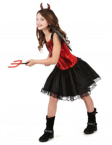 Teufelinnen Kostüm für Kinder-1