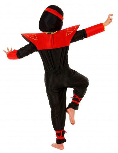 Ninjakostüm für Kinder schwarz-rot-gelb-2