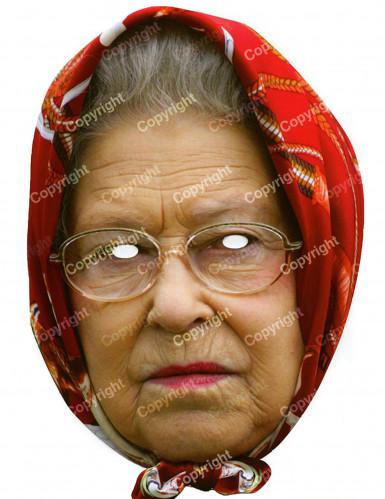 Queen Elisabeth-Maske mit Gummiband bunt