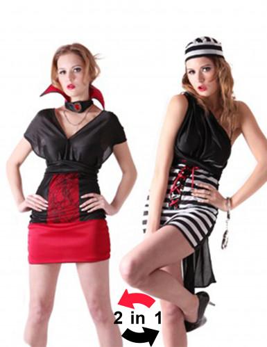 Wendbares Gefangenen oder Vampir Kostüm Damen