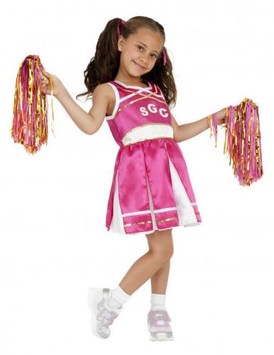 Cheerleader Kostüm für Mädchen pink-weiss