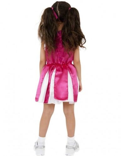 Cheerleader Kostüm für Mädchen pink-weiss-1