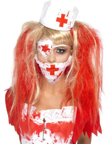 Blutverschmierte Krankenschwester Set für Damen