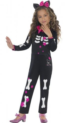 Hello Kitty ™-Skelett Kostüm für Mädchen