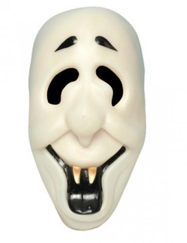 Schaurige Skelett-Maske für Erwachsene nachtleuchtend weiss-schwarz