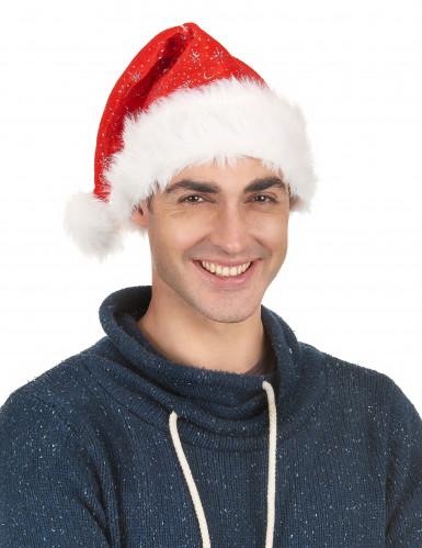 Weihnachtsmann-Mütze mit Pailletten-1