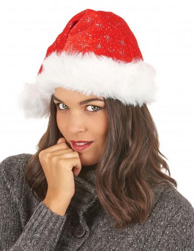 Weihnachtsmann-Mütze mit Pailletten-2