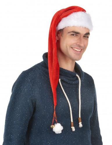 Weihnachtsmannmütze für Erwachsene mit Schelle-1