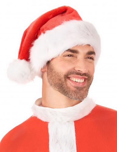 Weihnachtsmann-Mütze für Erwachsene in Samtoptik-2