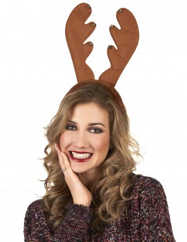 Rentier Haarreif Weihnachten braun