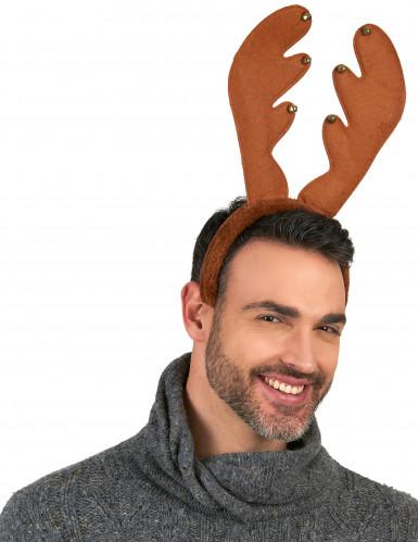 Rentier Haarreif Weihnachten braun-1