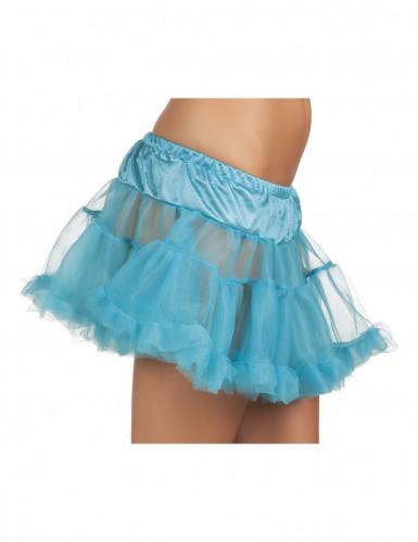 Blauer Tüllunterrock für Damen