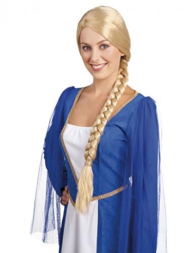 Mittelalterliche Damenperücke mit Zopf