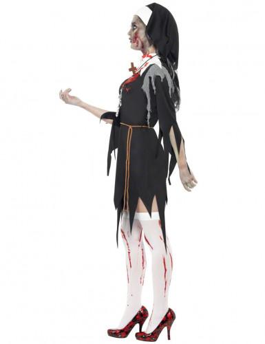 Zombie Nonnen Kostüm Halloween für Damen-1