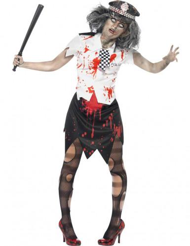 Zombie Halloween Polizistenkostüm für Damen