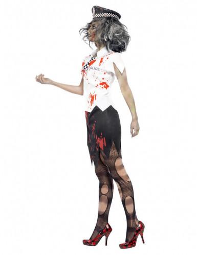 Zombie Halloween Polizistenkostüm für Damen-1