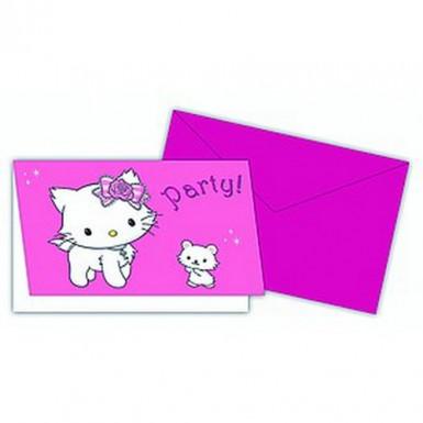 6 Einladungskarten Charmmy Kitty™