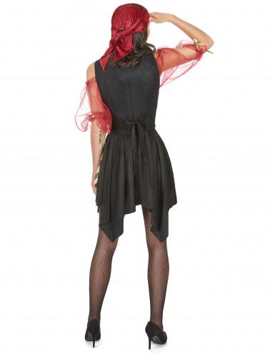 Freibeuter-Piraten Kostüm für Damen schwarz-gelb-rot-2