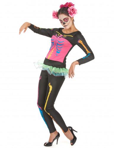 Damen-Skelettkostüm Halloween für Erwachsene -2