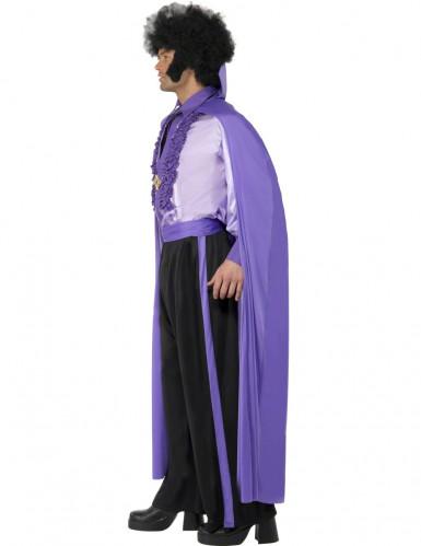 Disco Vampirkostüm für Herren violett-2