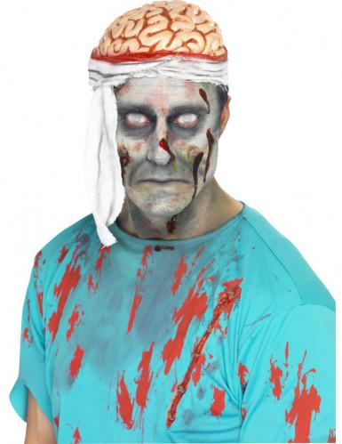 Halloween Mütze Gehirn mit Verband für Erwachsene