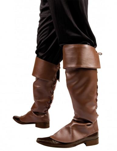 Piraten-Stiefelstulpen für Erwachsene braun