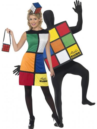 Rubik's Cube™ Paarkostüm für Erwachsene