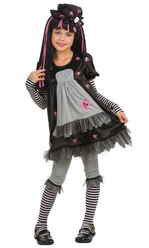 Gotic-Kinderkostüm Black Dolly für Mädchen