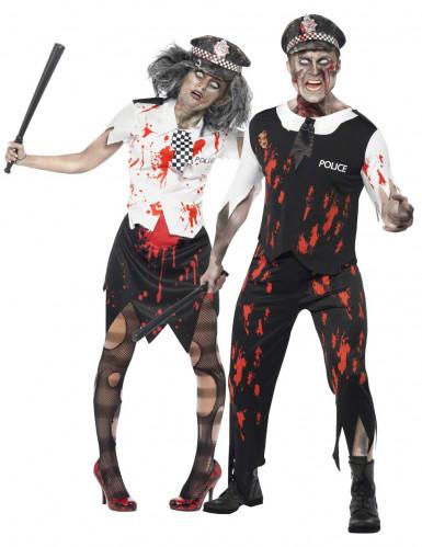 Zombiekostüm Polizistenpaar Halloween