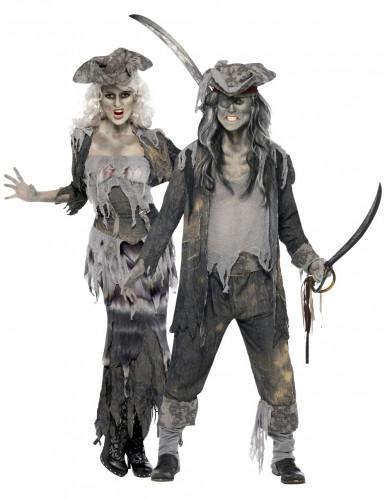 Piraten-Phantompaar Halloween-Kostüme grau-schwarz