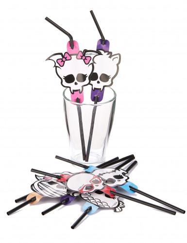 Biegsame Halloween-Trinkhalme Monster High™-1