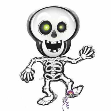Alu-Ballon Skelett für Halloween