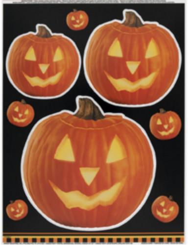 Halloween Kürbis-Aufkleber für Fenster