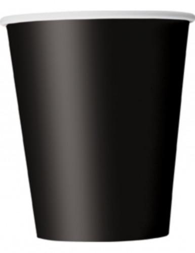 8 schwarze Becher